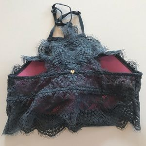 PINK Victoria's Secret Intimates & Sleepwear - Victoria's Secret PINK lace High Neck Bra; size XS